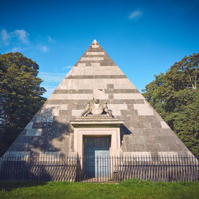 """Blickling Hall Mausoleum"" stock image"