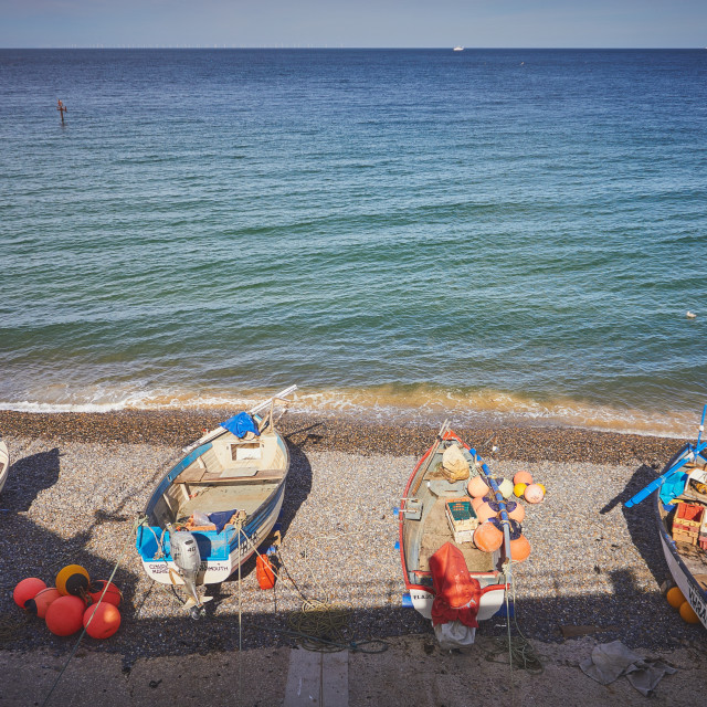 """""""Boats on the shore"""" stock image"""