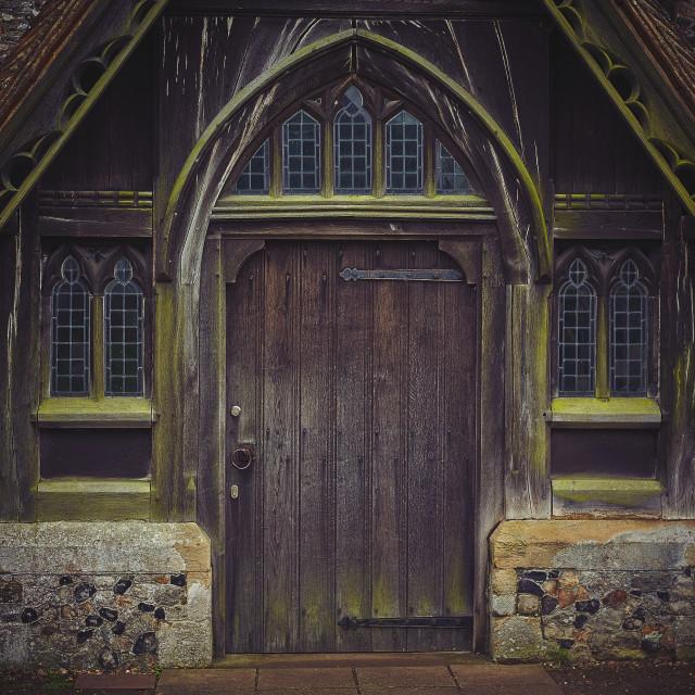 """Church entrance"" stock image"