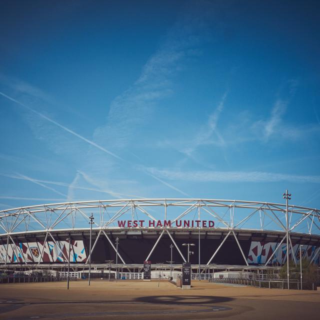 """West Ham Football Stadium"" stock image"