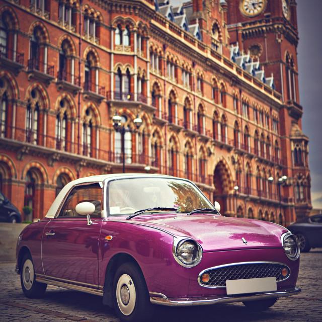 """Car outside St. Pancras Station"" stock image"