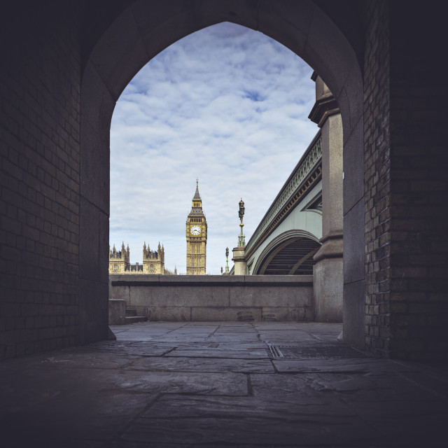 """Looking through an archway in London"" stock image"