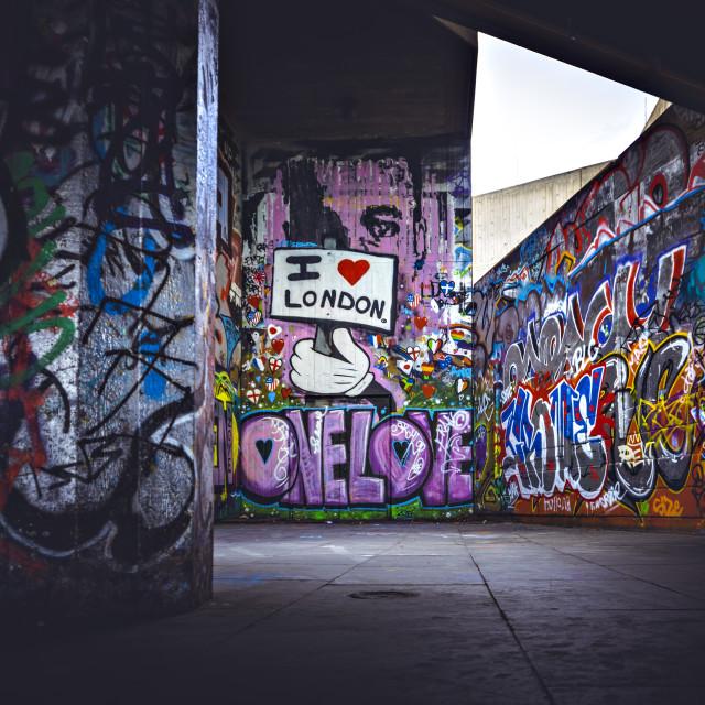 """Graffiti in London"" stock image"
