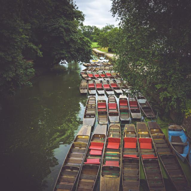 """""""River in Oxford"""" stock image"""