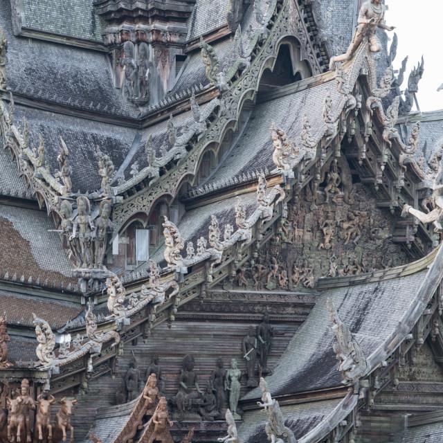 """THAILAND PATTAYA SANCTUARY OF TRUTH"" stock image"
