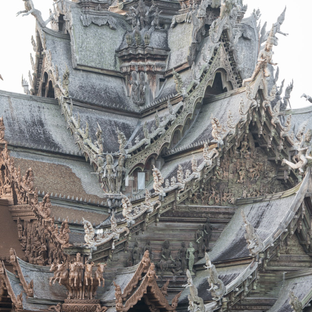 """THAILAND PATTAYA SANCTUARY OF TRUTH"" stock image"
