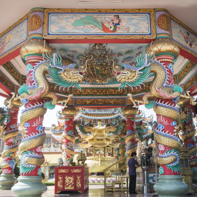 """THAILAND CHONBURI ANG SILA CHINESE TEMPLE"" stock image"
