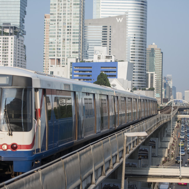 """THAILAND BANGKOK SATHON SKY TRAIN"" stock image"