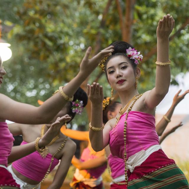 """""""THAILAND BANGKOK BANGLAMPHU THAI DANCE"""" stock image"""