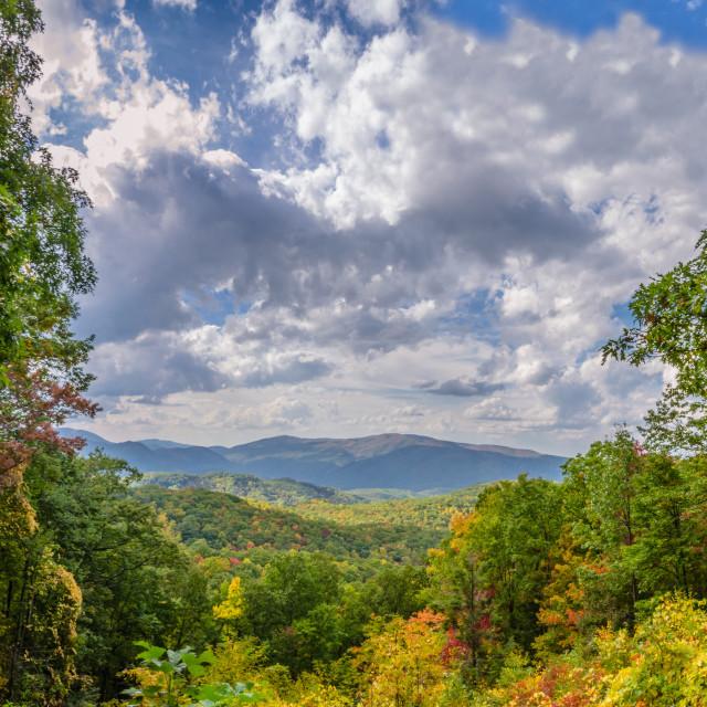 """Fall Smoky Mountain Scene"" stock image"