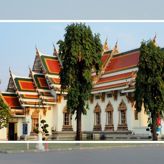"""""""Thai temple bathed in morning light"""" stock image"""