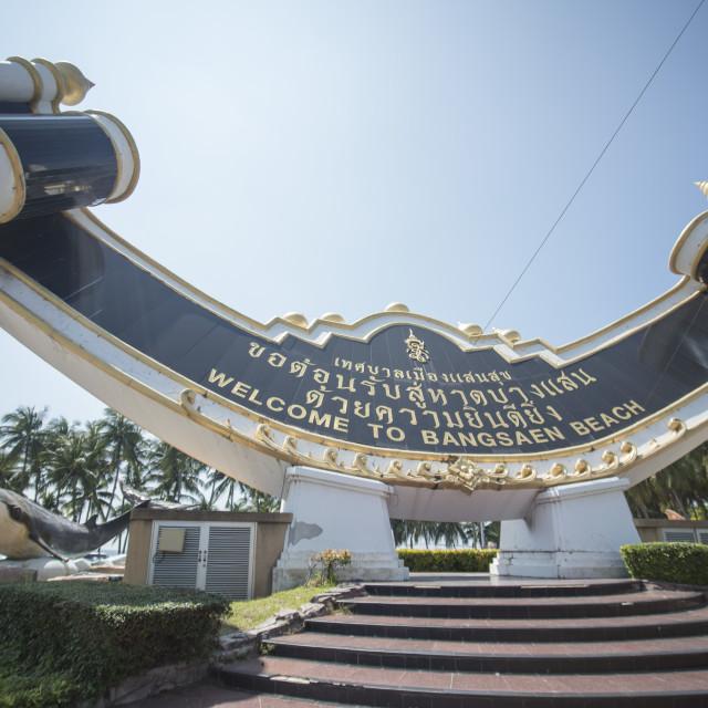 """THAILAND CHONBURI BANGSAEN BEACH"" stock image"