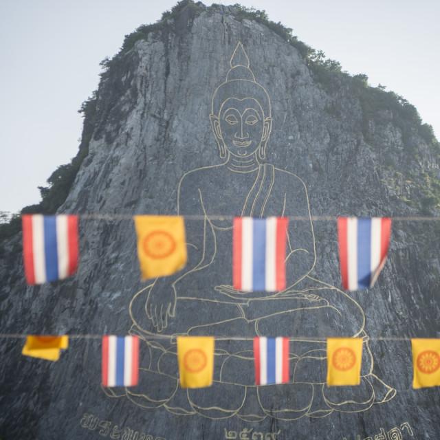 """THAILAND PATTAYA BUDDHA CLIFF KHAO CHEE CHAN"" stock image"