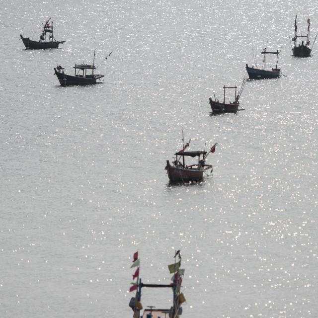 """""""THAILAND CHONBURI BANGSAEN FISHINGBOAT COAST"""" stock image"""