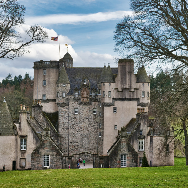 """Castle Fraser"" stock image"
