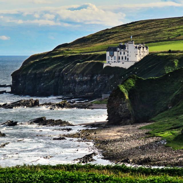 """""""Dunbeath Castle"""" stock image"""