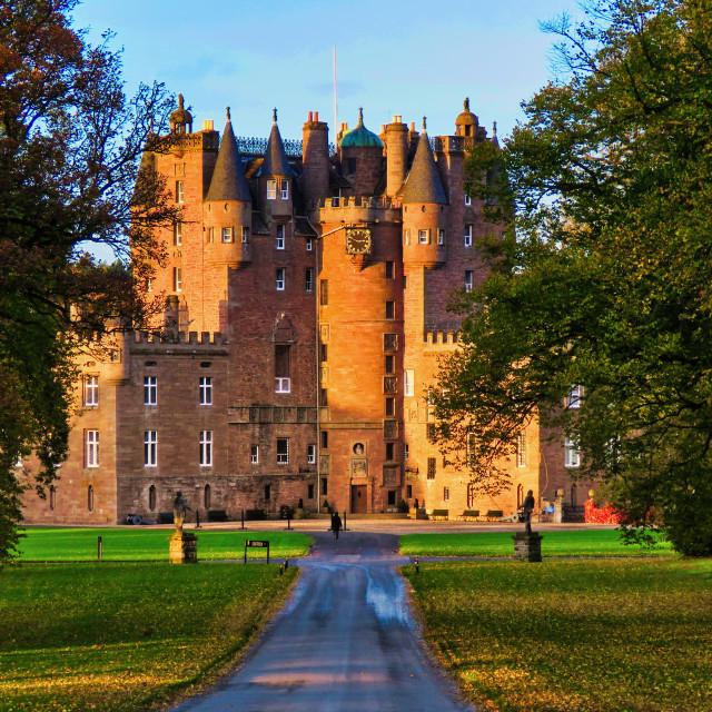 """Glamis Castle"" stock image"