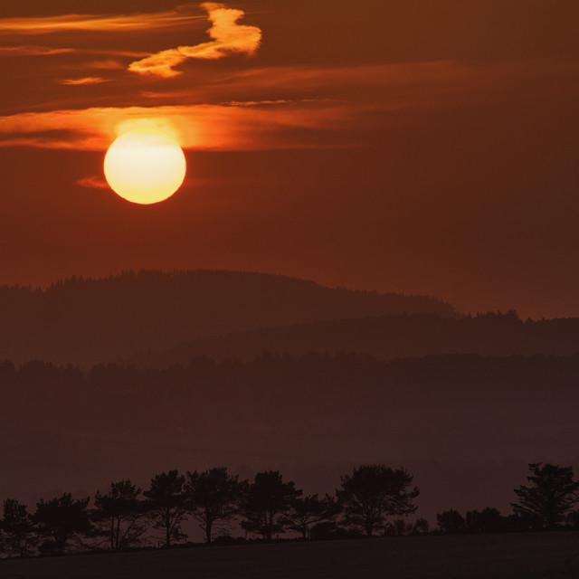"""Aberdeenshire sunset"" stock image"
