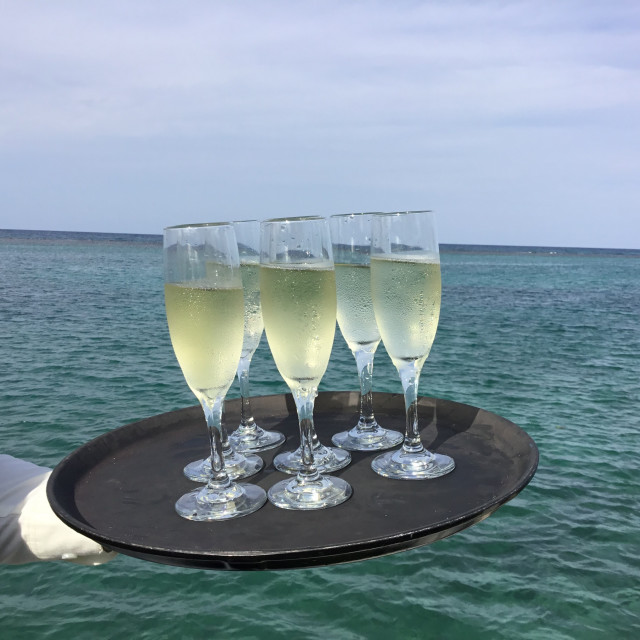 """""""Champagne being served"""" stock image"""
