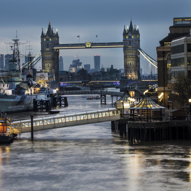 """Tower Bridge and the Thames"" stock image"