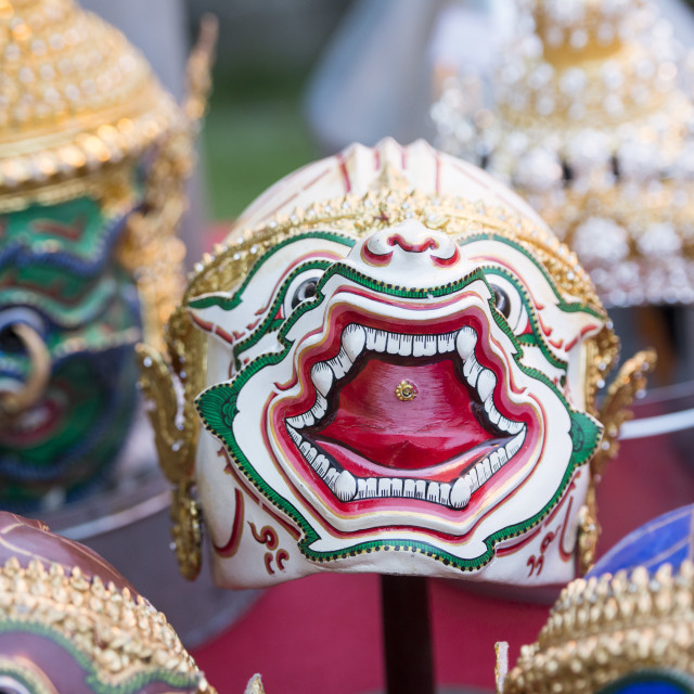 """THAILAND BANGKOK DEMON MASK"" stock image"
