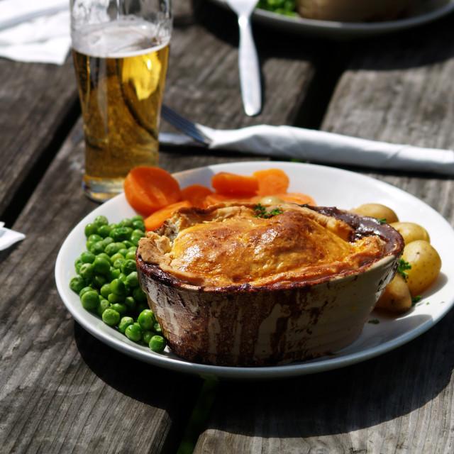 """Pub Pie"" stock image"