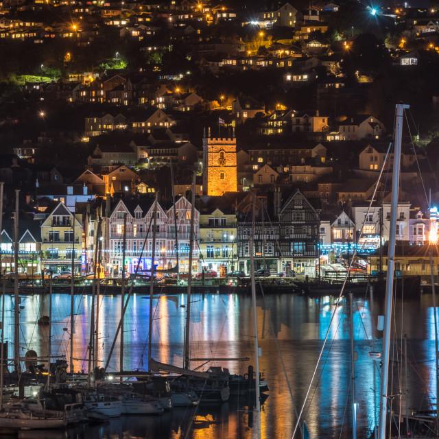 """Dartmouth At Night"" stock image"