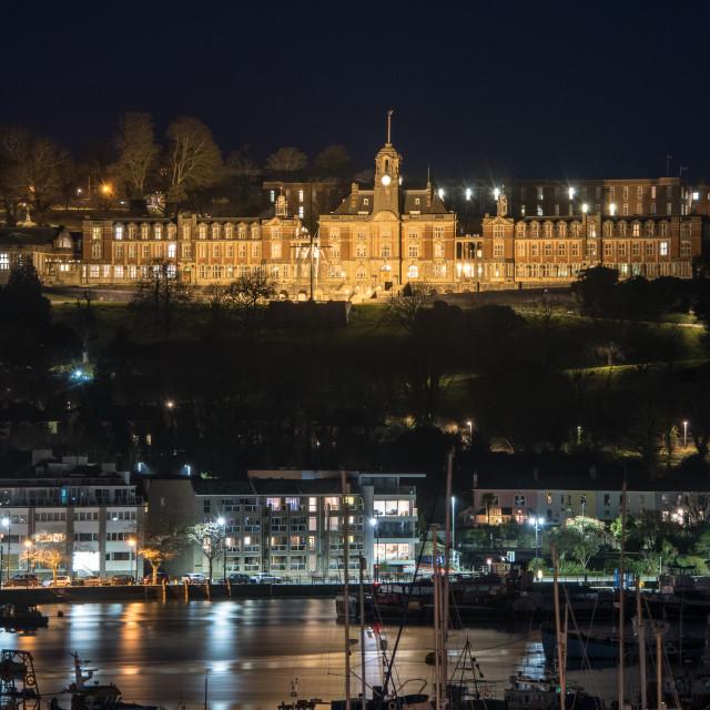 """Dartmouth Britannia Royal Naval College"" stock image"