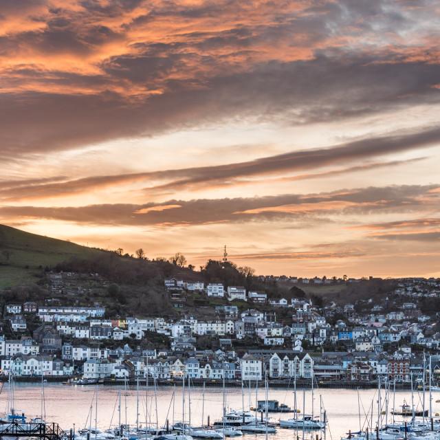 """Dartmouth Estuary at sunset"" stock image"