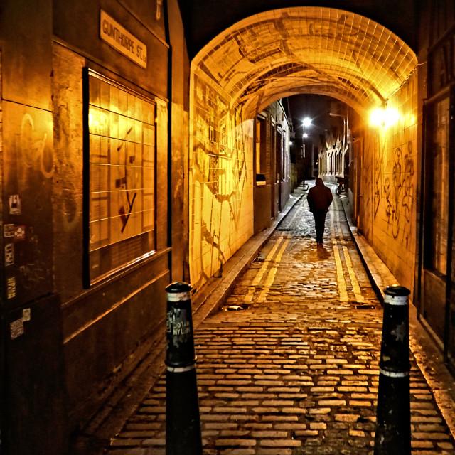 """Gunthorpe Street, Whitechapel"" stock image"