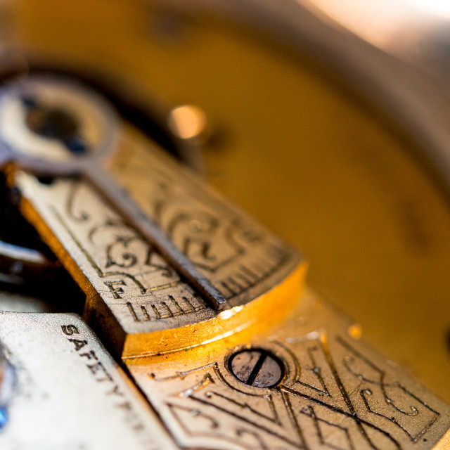 """Inside a pocket watch"" stock image"