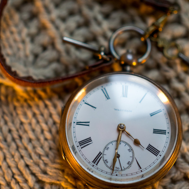 """Waltham Pocket Watch"" stock image"