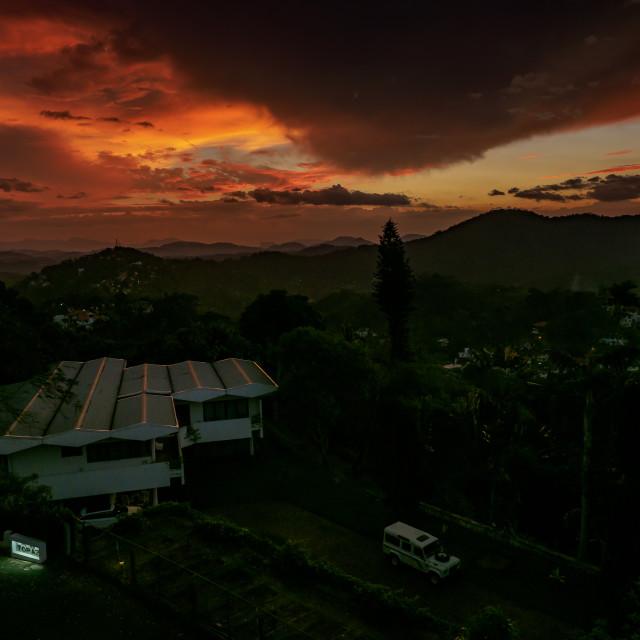 """Sunset over Kandy"" stock image"