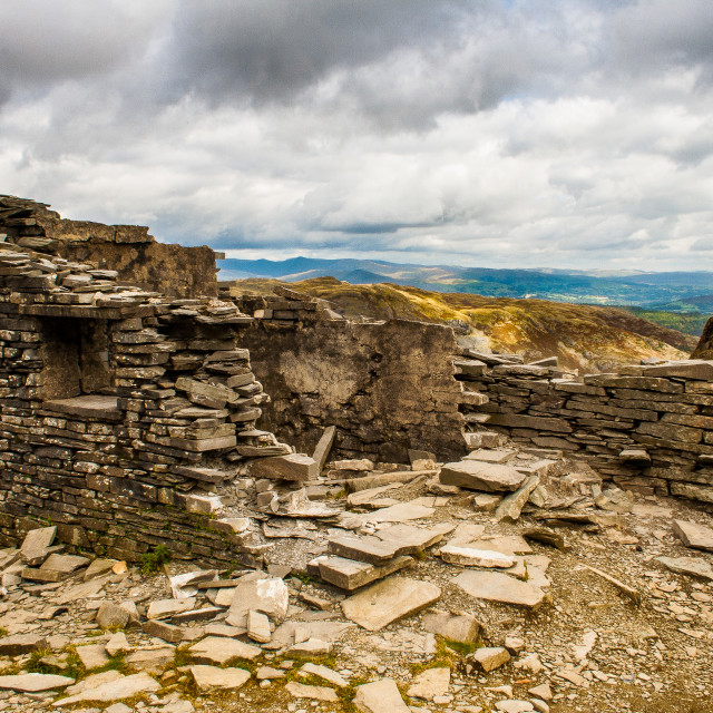 """The abandoned slate mine at Coniston"" stock image"