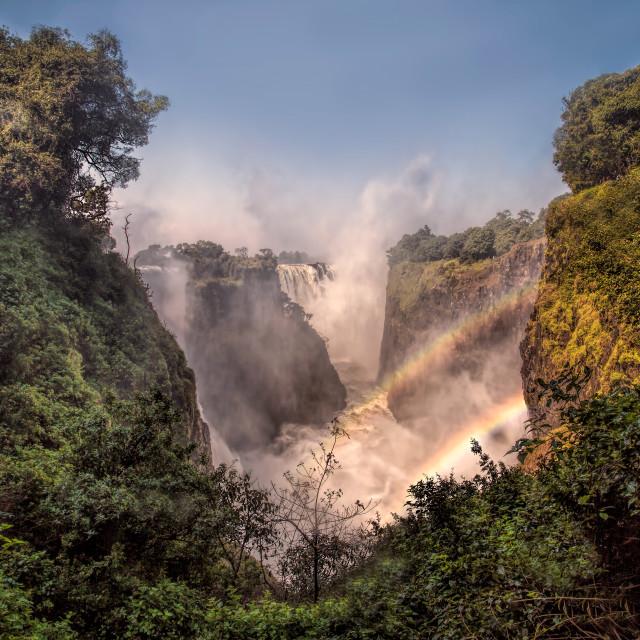 """Victoria Falls Rainbow"" stock image"