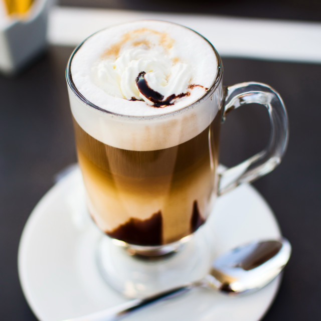 """""""Delicious cup of coffee in the bar"""" stock image"""