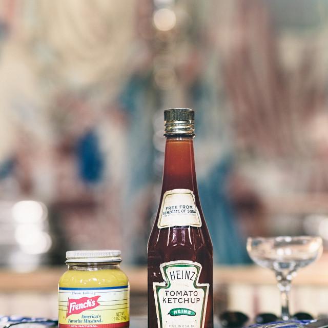 """Old Ketchup"" stock image"