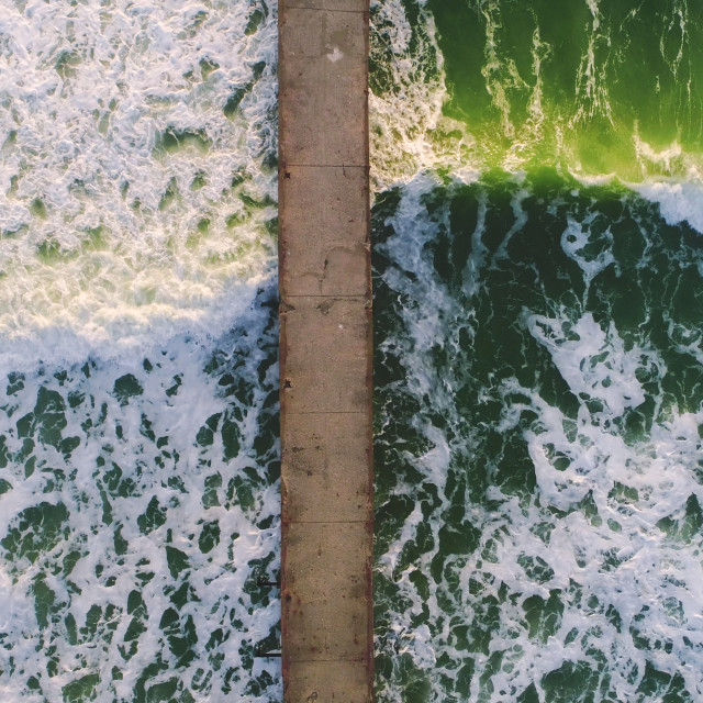 """""""Aerial view of sea waves"""" stock image"""