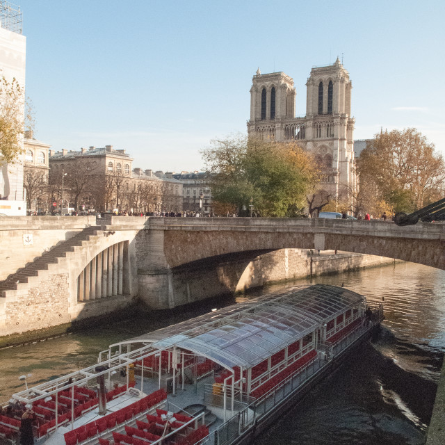 """""""Notra Dame & The River Seine"""" stock image"""
