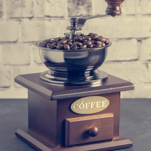 """Manual coffee grinder"" stock image"
