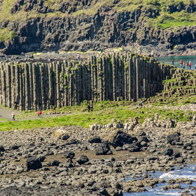 """""""High columns of Giant's Causeway"""" stock image"""