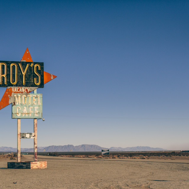 """Roy's Motel"" stock image"