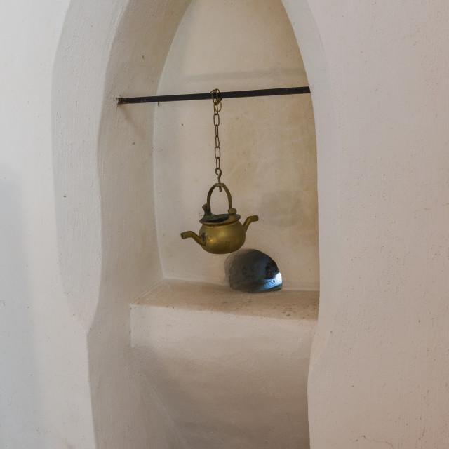 """Piscina in Church Wall, Leermens"" stock image"