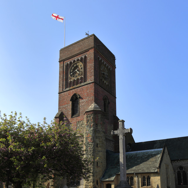 """""""St Marys church, Petworth town, West Sussex County, England, UK"""" stock image"""