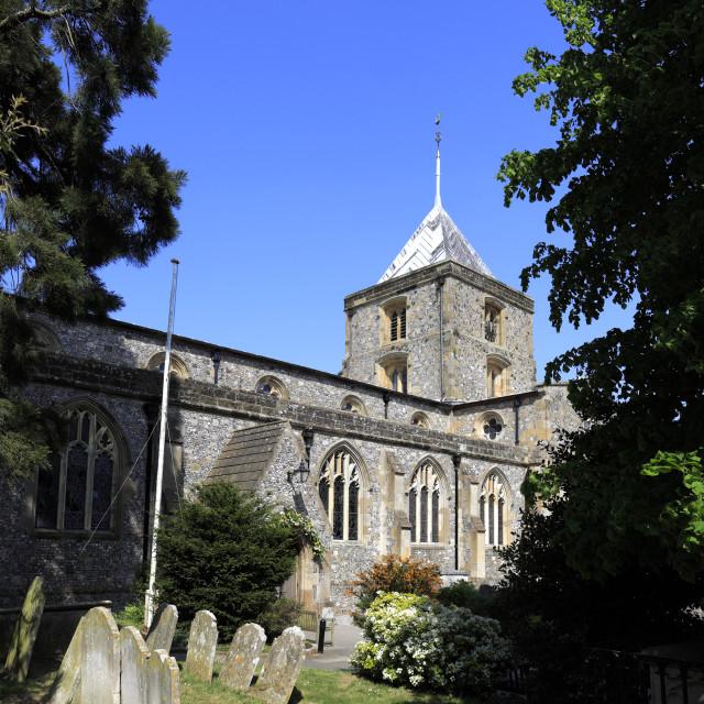 """St Nicholas parish church, Arundel town, West Sussex County, England, UK"" stock image"