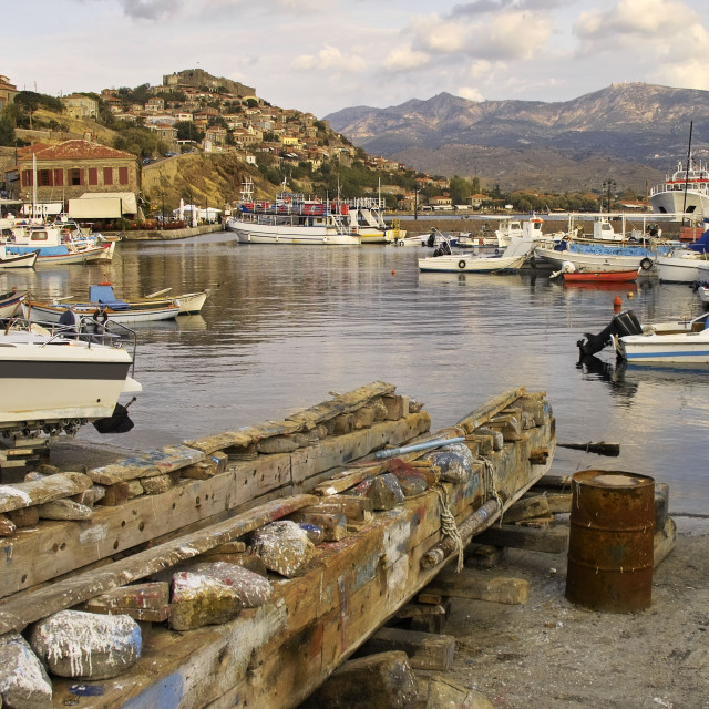 """""""Molyvos on lesbos"""" stock image"""