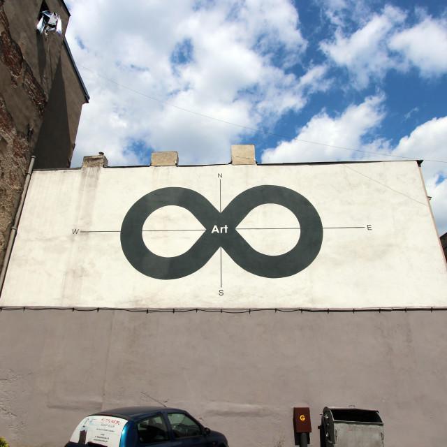 """Lodz: Street Mural"" stock image"