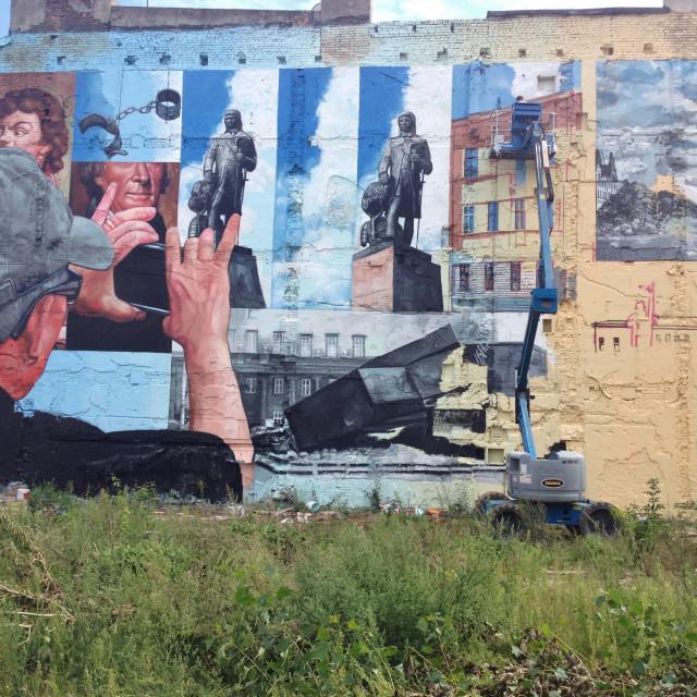 """Lodz: Street Art Mural"" stock image"