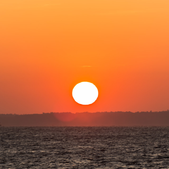"""""""Sunset over the Isle of Wight"""" stock image"""