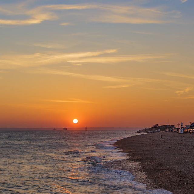 """Southsea Sunset"" stock image"